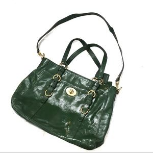 Coach Kelly Green Gold Chelsea Leather Purse